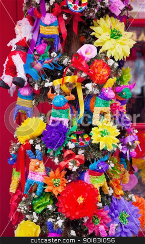 cut christmas tree san diego mexican tree decorations san diego town california stock photo