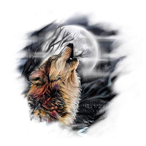 wolf howling at the moon tattoo designs wolves meanings custom design