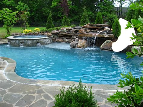 inground pools with waterfalls furnitureglamorous pool designs chaffees swimming pools