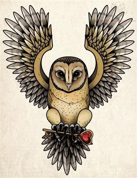 flying owl tattoo design pin drawings owls owl tattoos ajilbabcom portal on pinterest