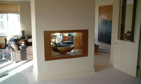 Double Sided Fireplaces, See Through Gas Fire Designs by