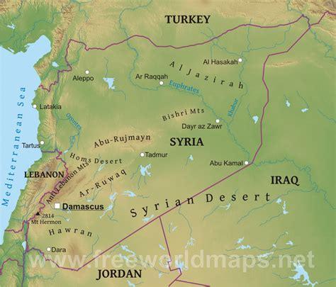 syrian desert damascus location on world map damascus today elsavadorla