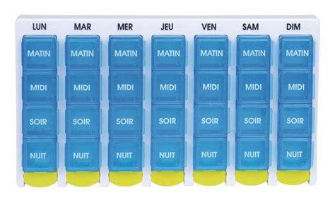 Pilulier Hebdomadaire Grand Modele