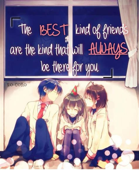 anime as best friends best friend anime quotes best friends and