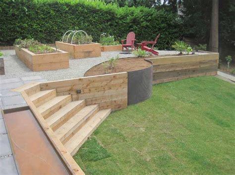 wood retaining wall design ideas home decor interior exterior