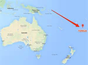tonga on a world map an underwater volcano erupted a tiny island turning