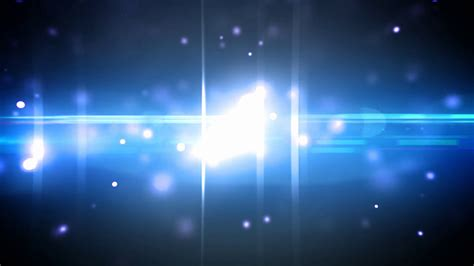 particles and optical flares blue motion background