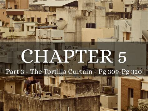 Fifth Chapter 3rd Part Of The Tortilla Curtain By
