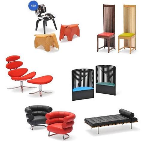 1 12 scale mid century modern chair replicas vs