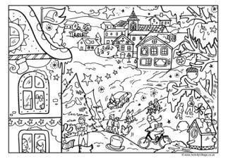 activity village christmas colouring pages