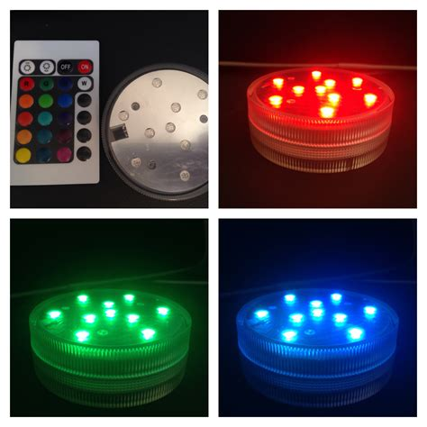 led light party 9 led submersible light discs 4 pack go party
