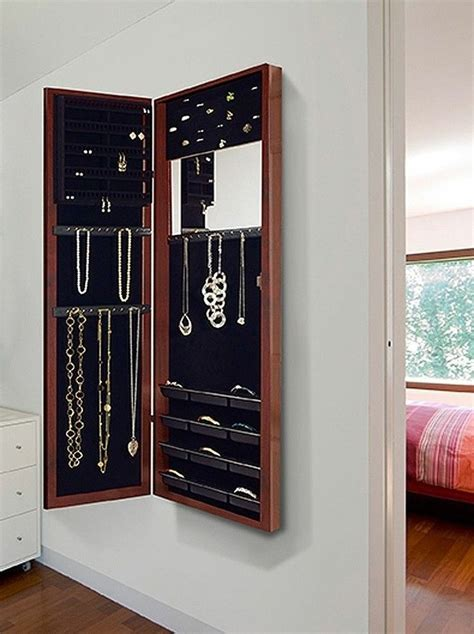 Hanging Jewelry Armoire by Jewelry Door Wall Mount Mirror Armoire Dressing Hanging