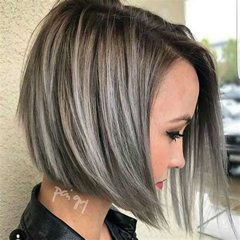 short hair cut and ash color streaks look grey must see short hair colors for 2017 short hairstyles
