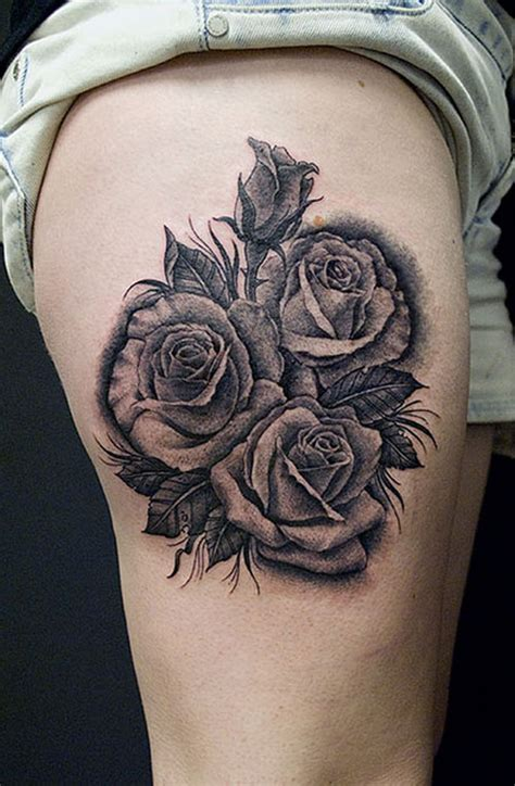 black and white rose tattoos for men 30 black designs creativefan