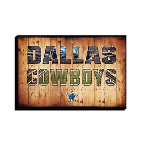 dallas cowboys canvas team pride crate 21 5x32
