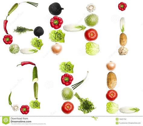 vegetables 10 letters letters made of vegetables stock photography image 18421752