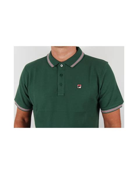 Polo Shirt Fila 3 fila vintage matcho 3 polo shirt green fila