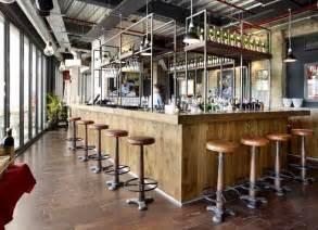 Old World Dining Room Tables industrial inspired bar interior design industrial