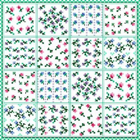 flower patch cross stitch pattern flowers