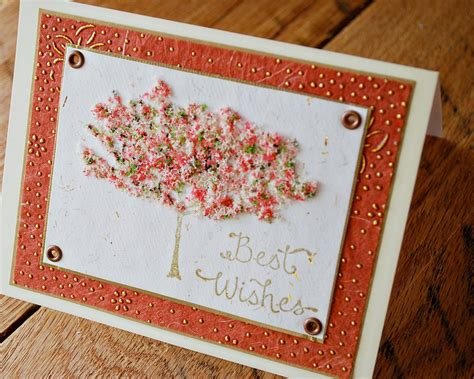 Handmade Wedding Cards Congratulations - engagement card wedding card best wishes card tree with gold