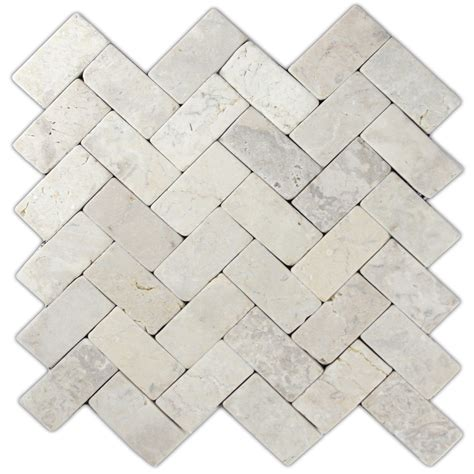 cream herringbone stone mosaic tile great for for walls backsplashes more ebay