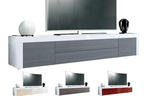 Meuble Tv 200 Cm by Meuble Tv Design Laqu 233 Blanc 200 Cm Topaze Cbc Meubles