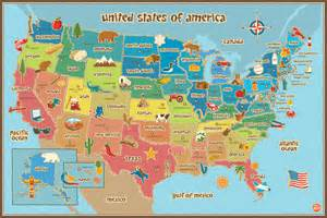 Large Classroom Rugs Kids Usa Map