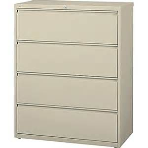 Staples Lateral File Cabinet Staples Hl8000 Commercial 42 Quot Wide 4 Drawer Lateral File Cabinet Putty Staples 174
