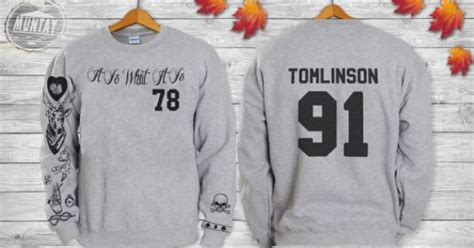 louis tomlinson tattoo sweatshirt louis tomlinson tattoos one direction 1d crewneck