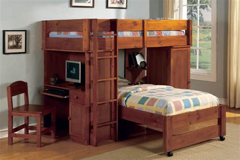 Bunk Bed With A Desk Loft Bed Desk Combo Fortikur