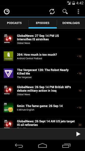 podcasts player for android podkicker podcast player apk varies with device free for android smartphone