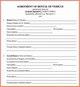 Car Rental Php Form Car Rental Agreement Car Lease Agreement Template Png