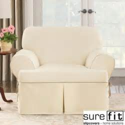 White Cotton Sofa Slipcovers Sure Fit Contrast Cord Natural Chair T Cushion Slipcover