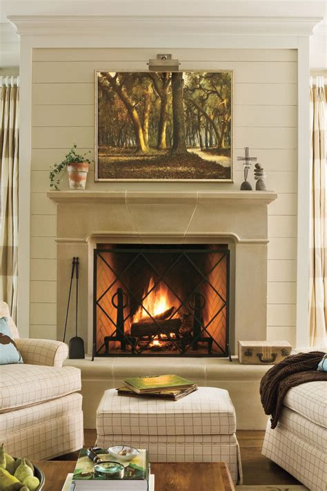Fireplace Decoration by 25 Cozy Ideas For Fireplace Mantels Southern Living