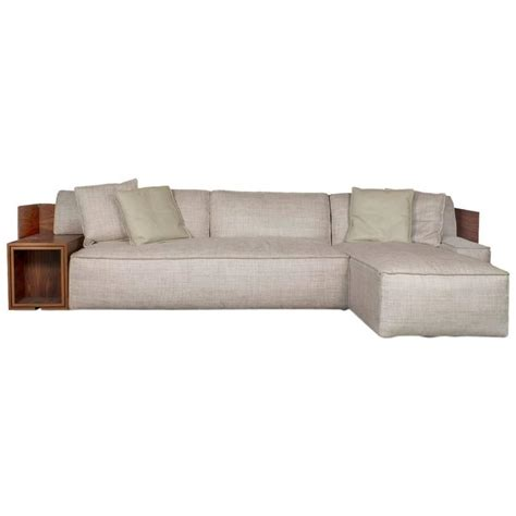 Philippe Starck Sofa by Cassina World Sectional Sofa With Wood Shelves By