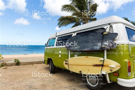 volkswagen van beach volkswagen westfalia cer van on tropical beach and surf
