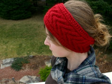 free knitted headband patterns the fuzzy square horseshoe cable headband knitting and