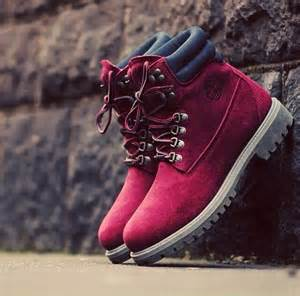 colored timberlands timbs maroon on the hunt