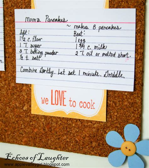how to make a kitchen recipe board echoes of laughter how to make a kitchen recipe board echoes of laughter
