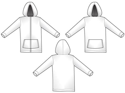 zip hoodie design template hoodie template download free vector art free vectors