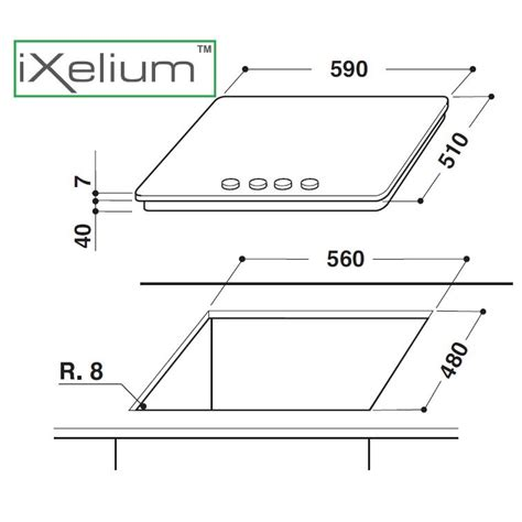 piano cottura ixelium whirlpool piano cottura linea ambient ixelium gma6422ixl