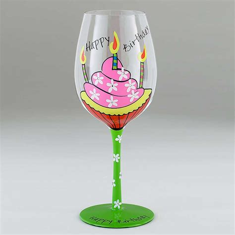 wine glass birthday the gallery for gt happy birthday wine glass
