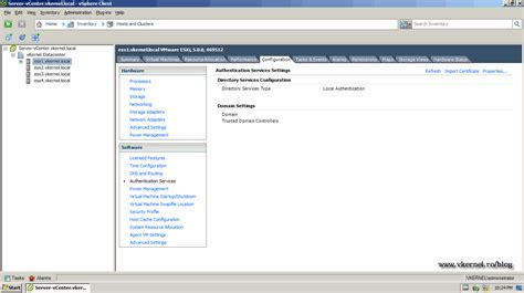 esx console configure active directory integration for vmware vsphere