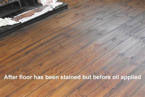 Floor Sanding Courses by Stained Pine Floor In Hartlepool