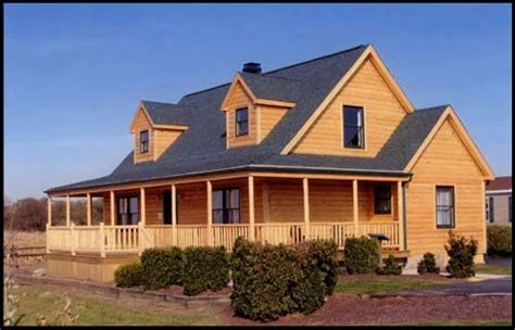 modular country homes ranch style modular homes log siding and wrap around porch