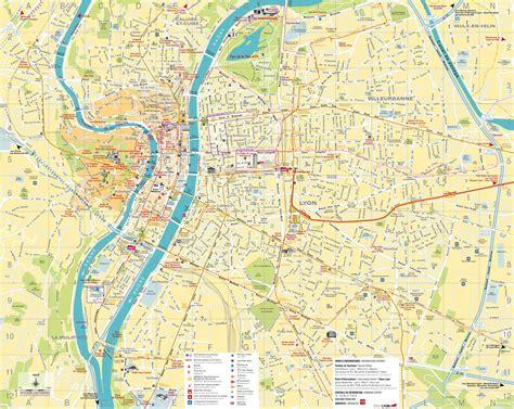 lyon on a map large detailed map of lyon