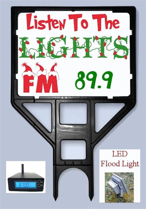 Fm Light by Light Show Fm Frequency Sign