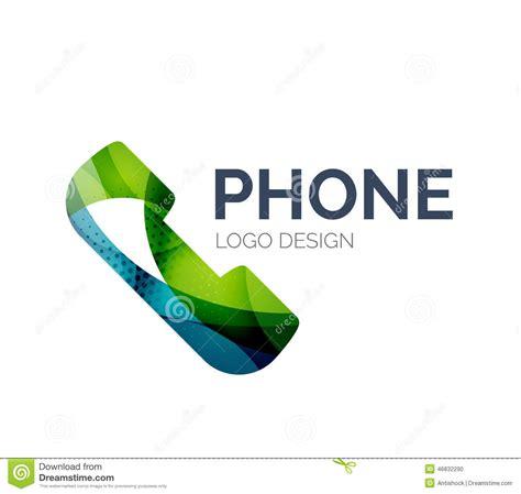 design a logo on your phone retro phone logo design made of color pieces stock vector