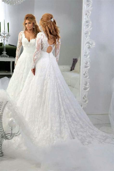 Renda Top By Princess arabic sleeve lace appliques bridal gowns sweetheart