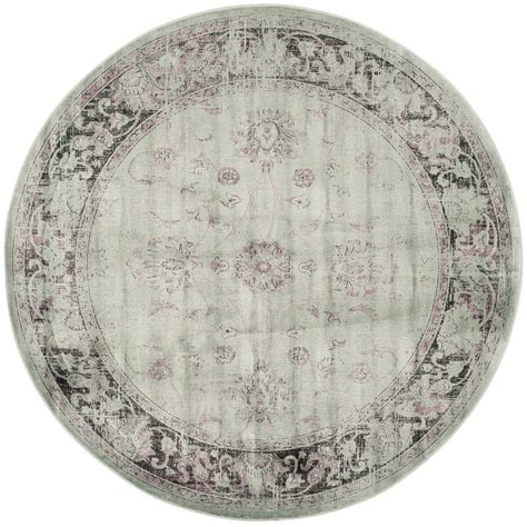 Safavieh Vintage Spruce Ivory 6 Ft X 6 Ft Round Area Rug 6 Ft Rugs